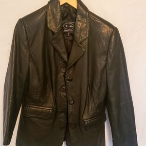 Tannery West Black Leather Coat